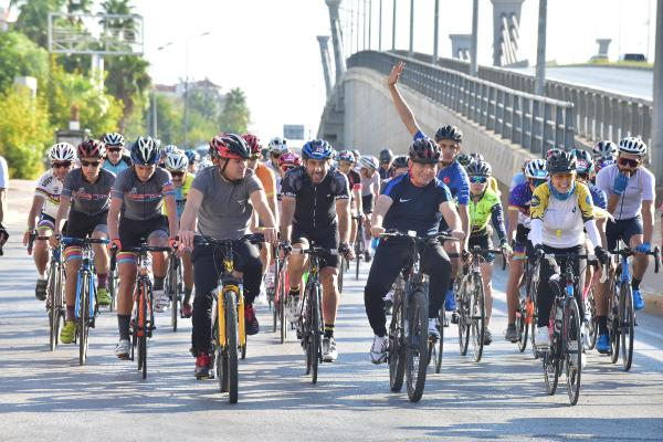 'Toros Keçisi' yarışında Başkan Tütüncü de pedal çevirdi / Ek fotoğraf