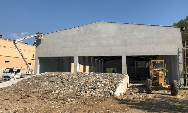 Yeni beton santralinde sona doğru